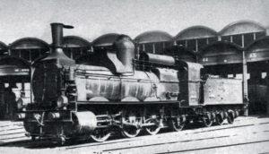 Locomotive PLM 031 A au dépôt de Venissieux