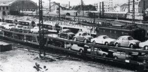 Biarritz-Ville en 1977, trafic autos-couchettes