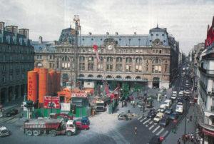 Travaux Eole, gare Saint-Lazare, cour du Havre