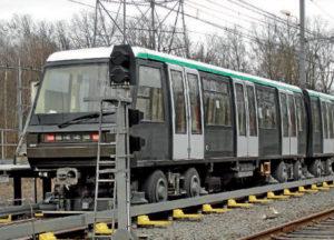 Infrastructure pour métros à pneus