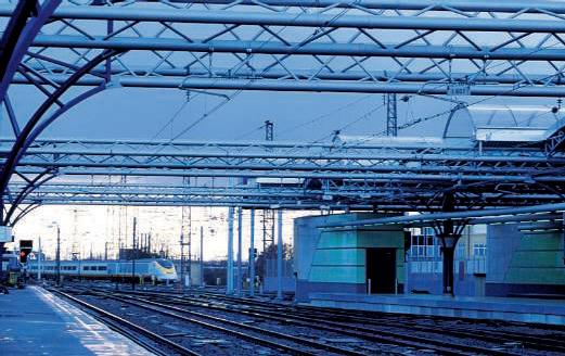 Janvier 1995. Une rame Eurostar arrive en gare de Bruxelles-Midi.