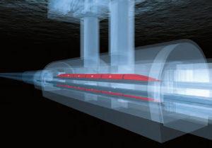 Des stations souterraines connectées aux réseaux de transports de surface jalonneront les axes est-ouest et nord-sud du Swissmetro. Il ne faudra pas plus de 12 minutes pour glisser d'une station à l'autre.