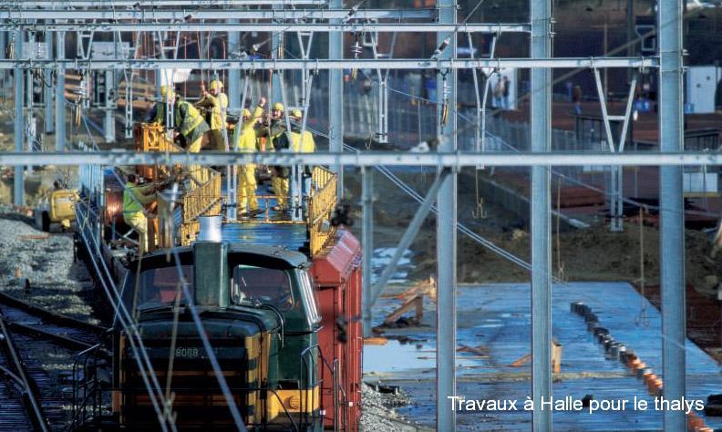 Travaux à Halle pour le thalys