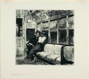 Gravure sur papier vélin (Edward Hopper). © Chicago Art Institute