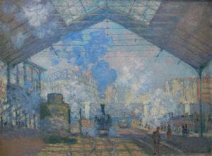 La Gare Saint-Lazare, le train de Normandie (Claude Monet). © DR