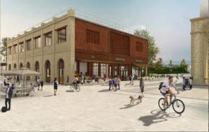 Une fois restaurée, la halle aux briques accueillera des commerces et des activités de service. © document Euratlantique