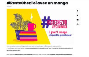 #Restecheztoi avec un manga - Glénat