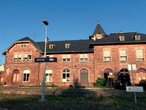 La gare de Bitche, dont les abords ont été nettoyés par T2SB. © T2SB