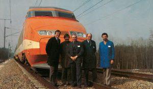 L'équipe de conduite,du record : de gauche à droite, Gabriel Jacquot, Henri Dejeux, André. Cossié, Daniel Levert et Jacques Ruiz. © J.-M. Frybourg