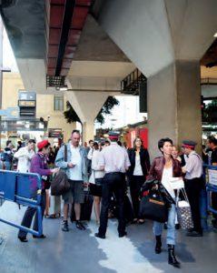 Contrôle à l'embarquement en gare de Marseille-Charles. © SNCF PACA